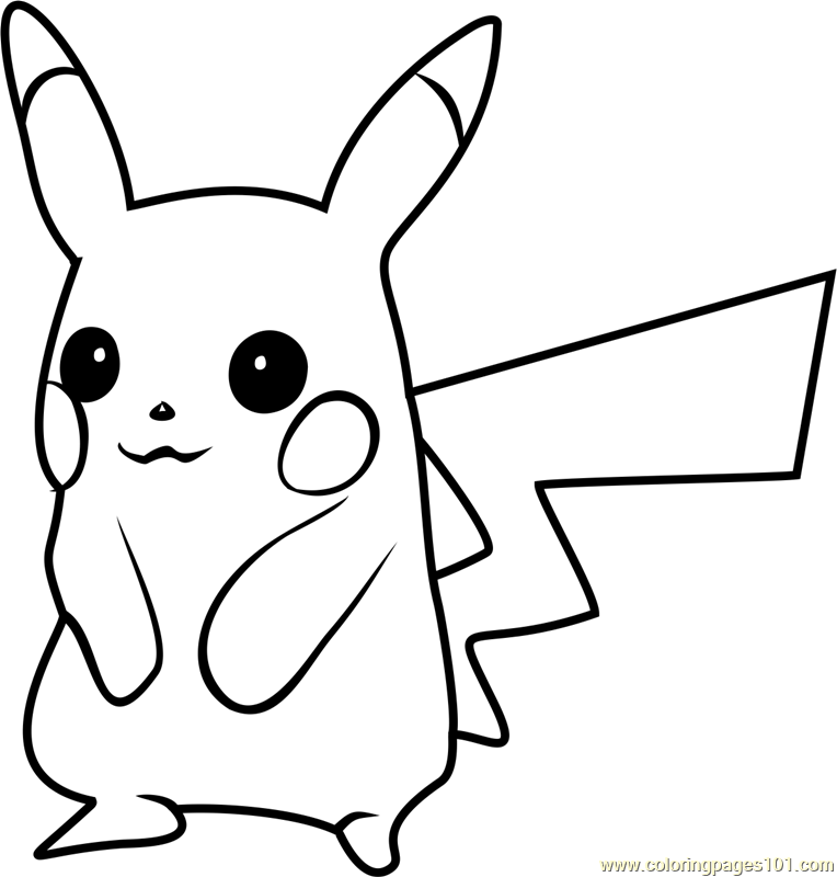 Pikachu Pokemon GO Coloring Page