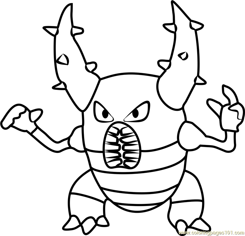 Pinsir Pokemon GO Coloring Page