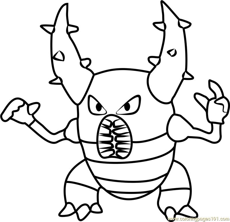 Pinsir Pokemon GO Coloring Page - Free Pokémon GO Coloring ...