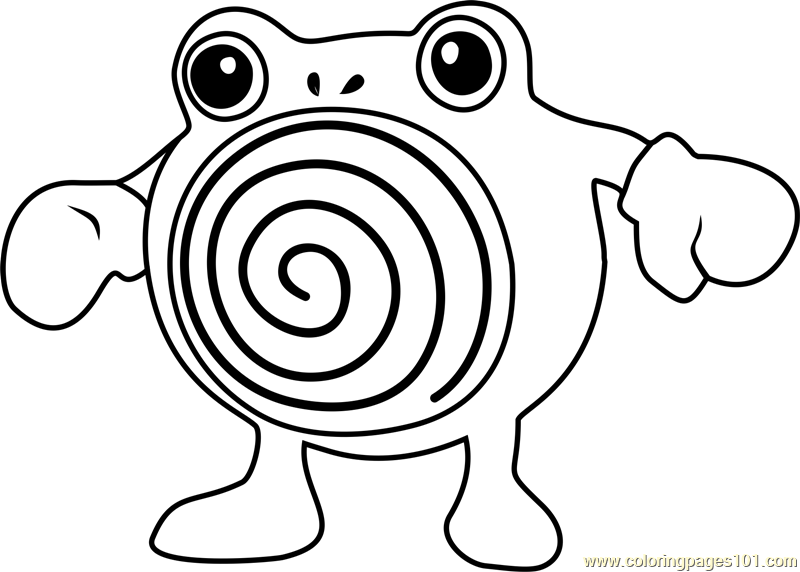 Poliwhirl Pokemon GO Coloring Page