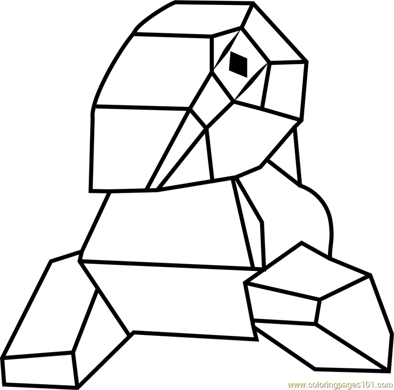 Porygon Pokemon GO Coloring Page