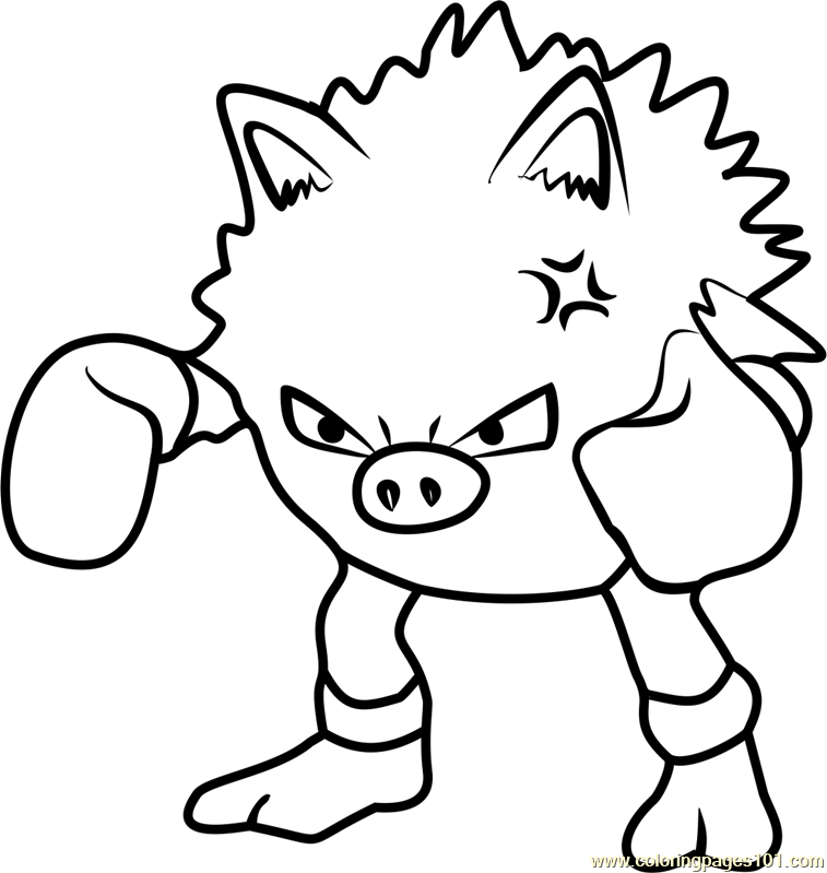 Primeape Pokemon GO Coloring Page