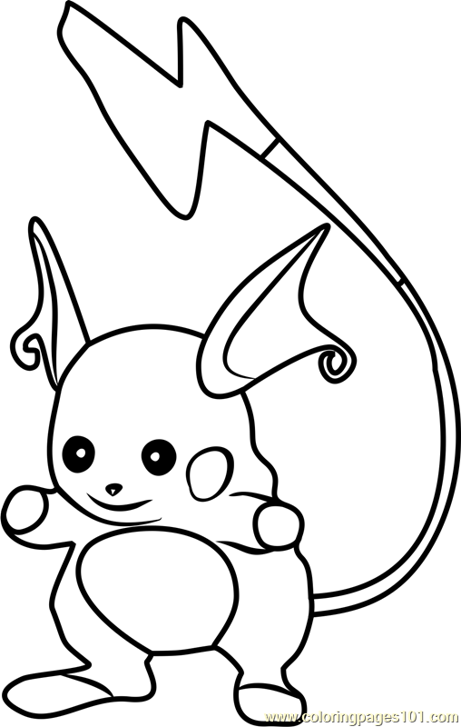 raichu Coloring Pages 5 raichu worksheets for kids