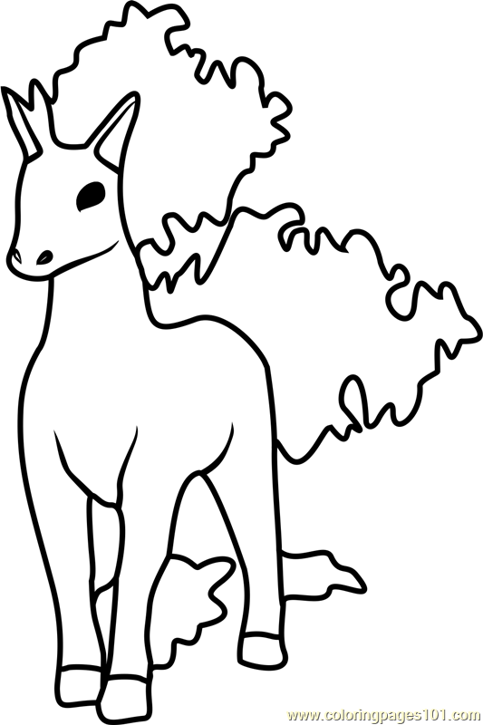 Rapidash pokemon go coloring page