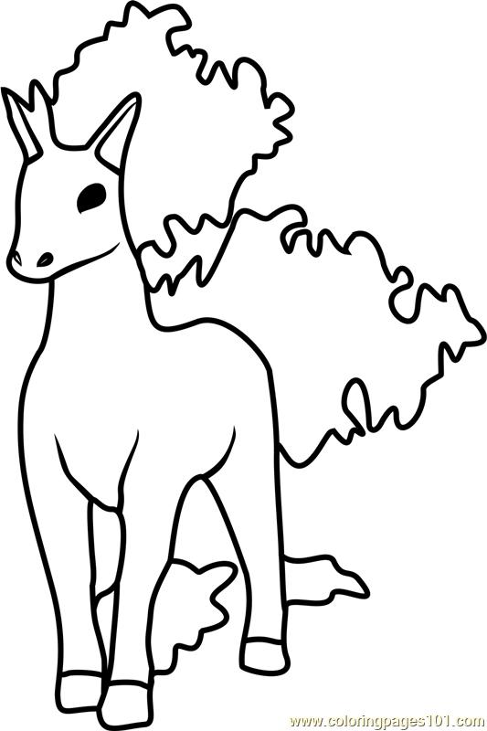 Rapidash pokemon go coloring page