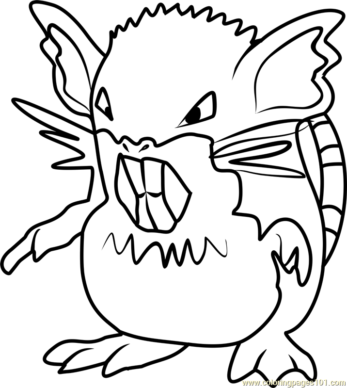 Raticate Pokemon GO Coloring Page