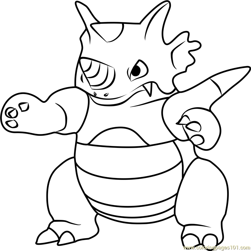 Rhydon Pokemon GO Coloring Page - Free Pokémon GO Coloring ...
