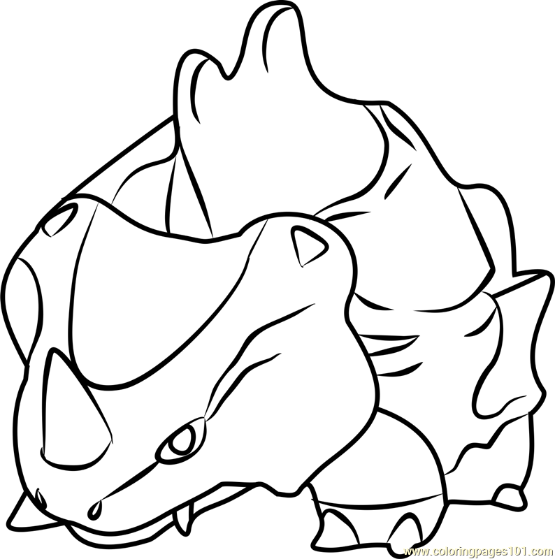 Rhyhorn Pokemon GO Coloring Page