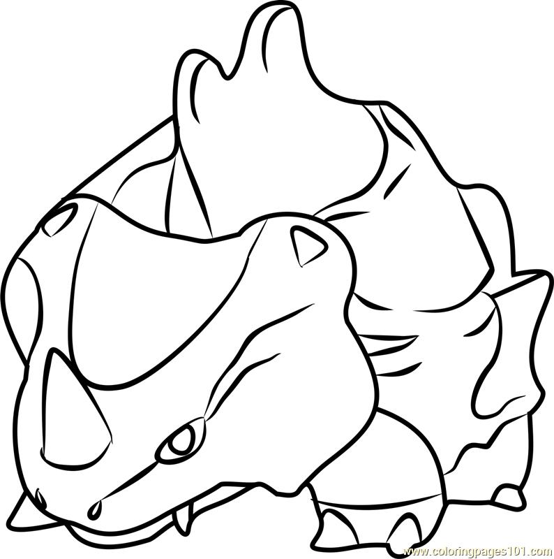 Rhyhorn Pokemon GO Coloring Page