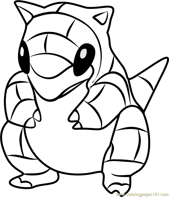 pokemon sandshrew coloring pages - photo#7