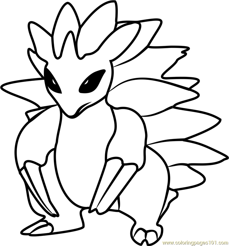 Sandslash Pokemon GO Coloring Page - Free Pokémon GO ...