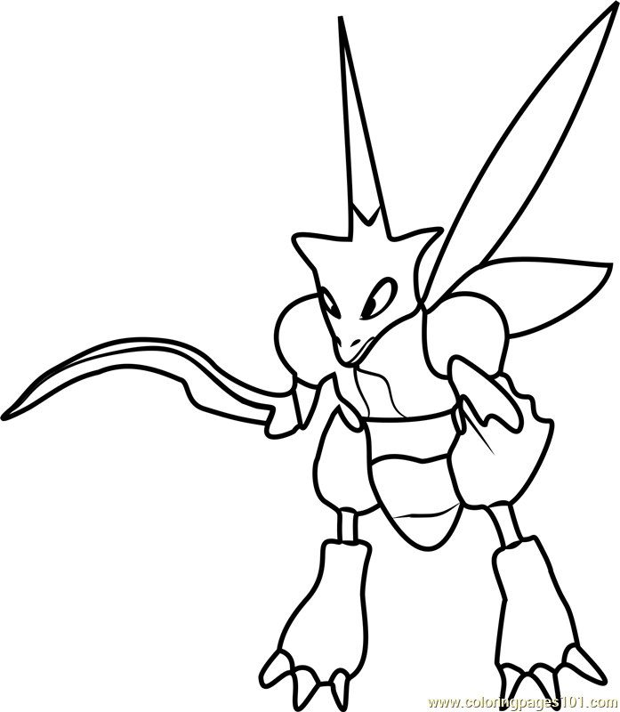 Scyther Pokemon GO Coloring Page