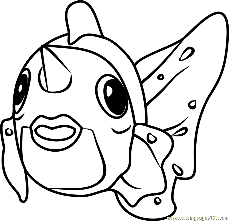 Seaking Pokemon GO Coloring Page