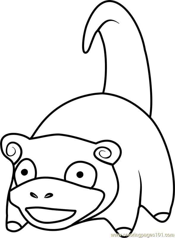 Slowpoke pokemon go coloring page