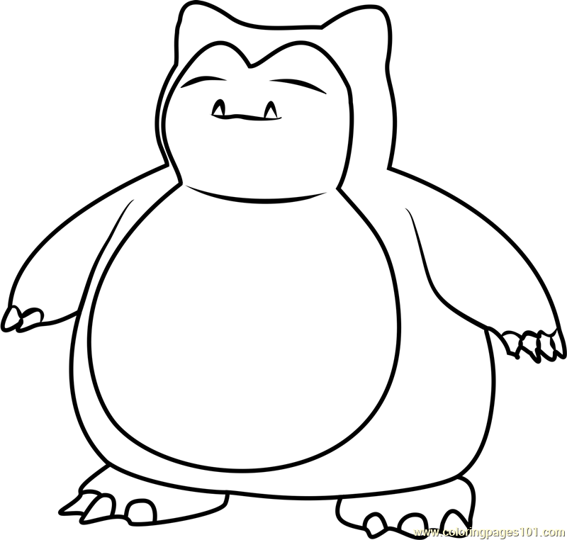 snorlax pokemon go coloring page - Pokemon Go Coloring Pages