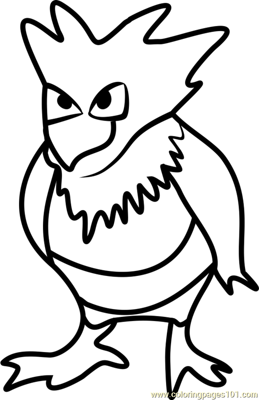 Spearow Pokemon Go Coloring Page Free Pok 233 Mon Go