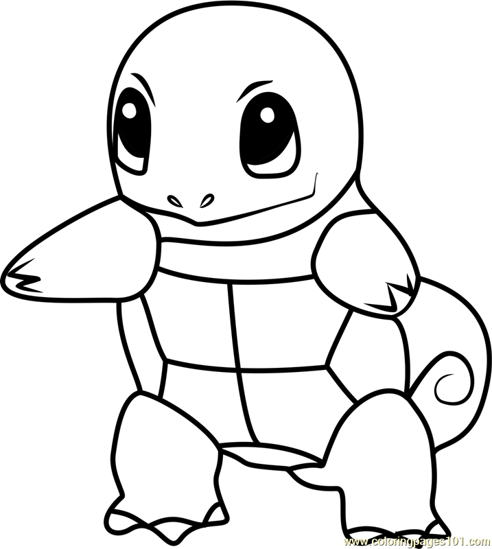 Squirtle Pokemon Go Coloring Page For Kids Free Pokemon Go Printable Coloring Pages Online For Kids Coloringpages101 Com Coloring Pages For Kids