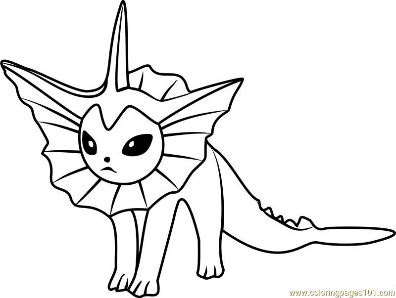 Vaporeon Pokemon GO Coloring Page