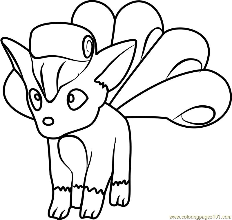 Vulpix pokemon go coloring page free pok mon go coloring for Vulpix coloring pages