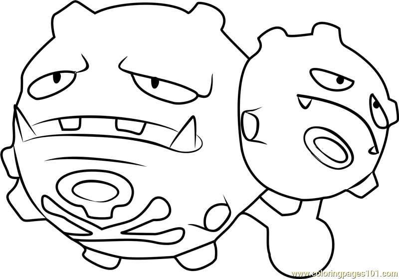 weezing pokemon go coloring page - Pokemon Go Coloring Pages