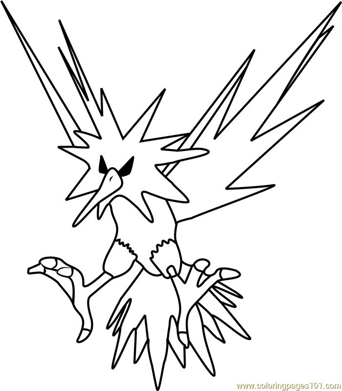 zapdos coloring pages - photo #14