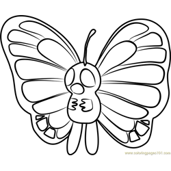 Butterfree Pokemon GO Free Coloring Page for Kids