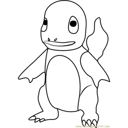Charmander Pokemon GO Free Coloring Page for Kids