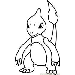 Charmeleon Pokemon GO Free Coloring Page for Kids