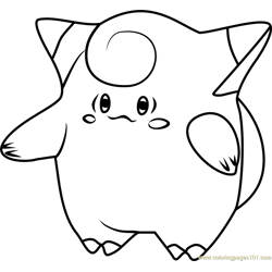 Clefairy Pokemon GO Free Coloring Page for Kids