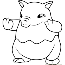 Drowzee Pokemon GO Free Coloring Page for Kids