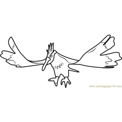 Fearow Pokemon GO Free Coloring Page for Kids