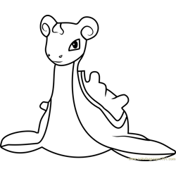 Lapras Pokemon GO Free Coloring Page for Kids