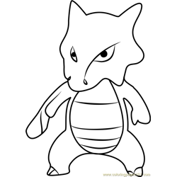 Marowak Pokemon GO Free Coloring Page for Kids