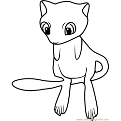 Mew Pokemon GO Free Coloring Page for Kids