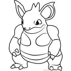 Nidoqueen Pokemon GO Free Coloring Page for Kids