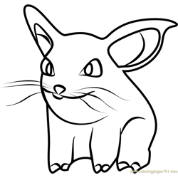 Nidoran Female Pokemon GO Free Coloring Page for Kids