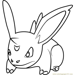 Nidoran Male Pokemon GO Free Coloring Page for Kids