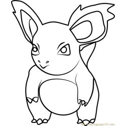 Nidorina Pokemon GO Free Coloring Page for Kids