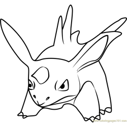Nidorino Pokemon GO Free Coloring Page for Kids
