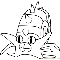 Omastar Pokemon GO Free Coloring Page for Kids