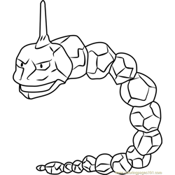 Onix Pokemon GO Free Coloring Page for Kids