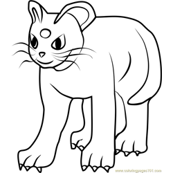 Persian Pokemon GO Free Coloring Page for Kids