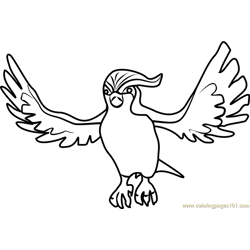 Pidgeot Pokemon GO Free Coloring Page for Kids