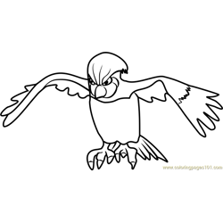 Pidgeotto Pokemon GO Free Coloring Page for Kids
