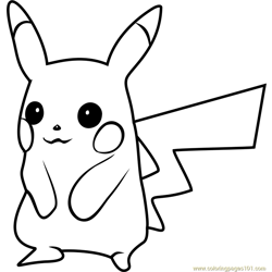 Pikachu Pokemon GO Free Coloring Page for Kids