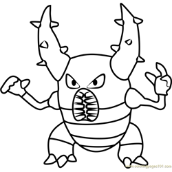 Pinsir Pokemon GO Free Coloring Page for Kids
