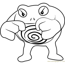 Poliwrath Pokemon GO Free Coloring Page for Kids