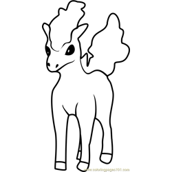 Ponyta Pokemon GO Free Coloring Page for Kids