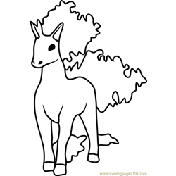 Rapidash Pokemon GO Free Coloring Page for Kids