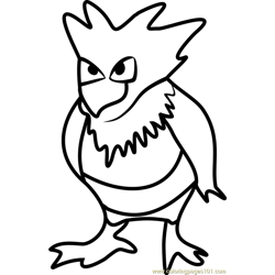 Spearow Pokemon GO Free Coloring Page for Kids